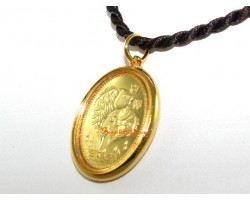 High Quality Golden Double Carp and Ruyi Pendant
