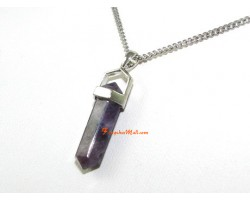 Amethyst Double Terminated Crystal Point Pendant (S)