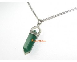 Aventurine Double Terminated Point Pendant (S)