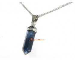 Sodalite Crystal Double Point Pendant (S)