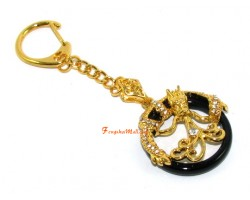 Dragon on Ring Spouting Sheng Chi Keychain