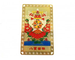 Eight Auspicious Objects Metal Card