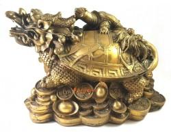 Brass Feng Shui Dragon Tortoise (XL)