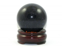 Feng Shui Crystal Ball – Blue Gold Sand