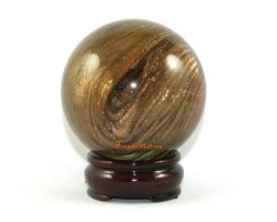 Feng Shui Crystal Ball – Swirling Gold Sand