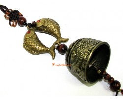 Feng Shui Dragon Bell Tassel with Double Carp
