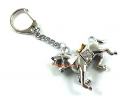 Windhorse Carrying Gold Ingots Keychain