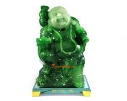 Jadeite Standing Good Fortune Laughing Buddha