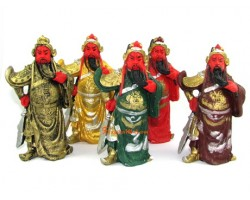 5 Element Kwan Kung Statues