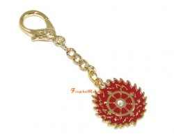 Flaming Magic Wheel Keychain