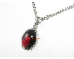 Garnet Crystal Gem Pendant Necklace