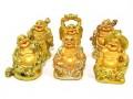 Golden Six Mini Laughing Buddhas