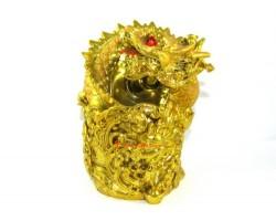 Golden Dragon Pen Holder for Good Fortune