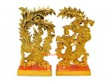 Golden Pair of Dragon and Phoenix