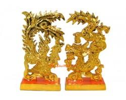 Golden Pair of Dragon and Phoenix