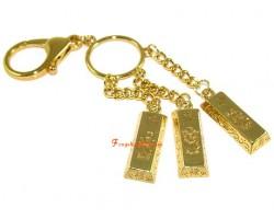 Feng Shui Golden Fuk Luk Sau Keychain