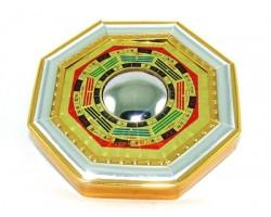 Golden Feng Shui Bagua with Mirror