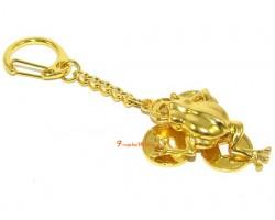 Golden Money Frog Keychain