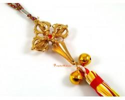 Golden Tibetan Double Dorje Phurba Tassel