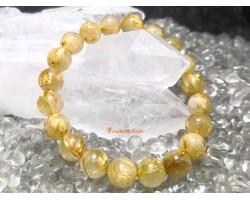 Golden Titanium Rutilated Quartz Bracelet