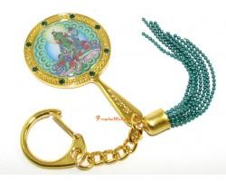 Green Tara Mirror Keychain