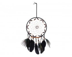 Handmade Dream Catcher Hanging with Peacock Feathers