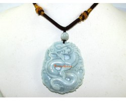 High Grade Jade Good Fortune Dragon Pendant