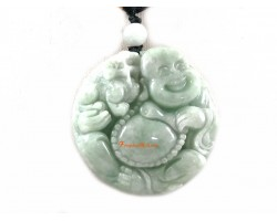 High Grade Jade Laughing Buddha Pendant