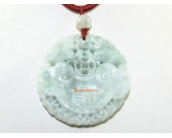 High Grade Jade Lock Coin with Pair of Pi Yao Pendant