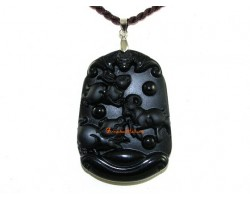 High Quality Horoscope Allies Obsidian Pendant - Rabbit, Sheep and Boar