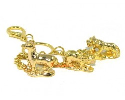 Golden Horoscope Allies and Secret Friend Keyring for Dog
