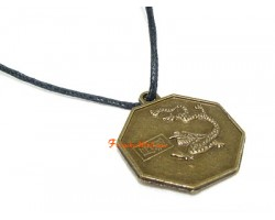 Horoscope Coin Pendant Amulet - Dragon