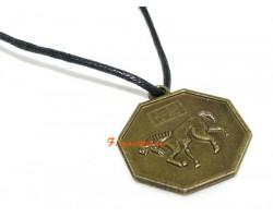 Horoscope Coin Pendant Amulet - Horse