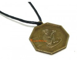 Horoscope Coin Pendant Amulet - Monkey
