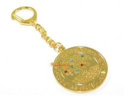 Increasing Jewel Medallion Keychain