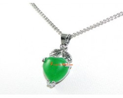 Mini Jade Heart Shape Pendant