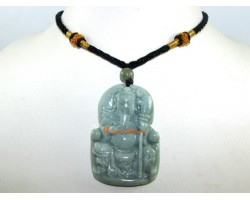 Jade Kwan Kung Pendant with Oriental Necklace