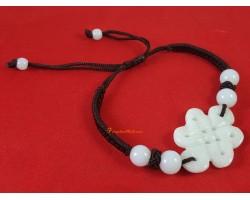 Jade Mystic Knot Adjustable Bracelet