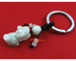 Family Pack 4 Pieces - Jade Feng Shui Piyao Keychain