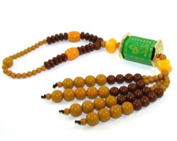Kuan Yin with Great Compassionate Mantra Beaded Tassels