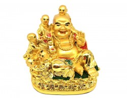 Laughing Buddha with Five Kids (s)