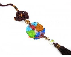 Colorful Glass Fortune Bat Tassel