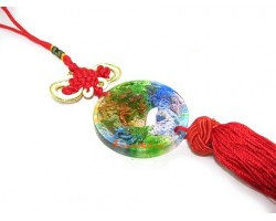 Colorful Crystal Liuli Dragon Tassel