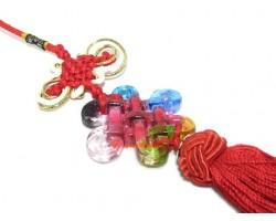 Colorful Crystal Liuli Mystic Knot Tassel