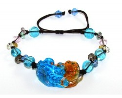 Colorful Liu li Crystal Pi Yao Bracelet (L)