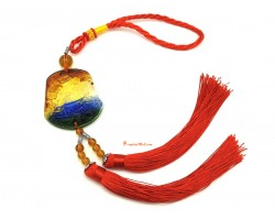 Colorful Crystal Liuli Wealth Ship Tassel