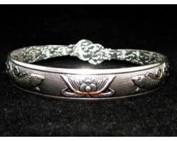 Lotus with Arowana Cuff Bracelet