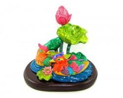 Love Charm Mandarin Ducks with Lotus
