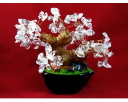 Mini Clear Quartz Feng Shui Tree