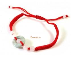Mini Jade Coin Adjustable Bracelet